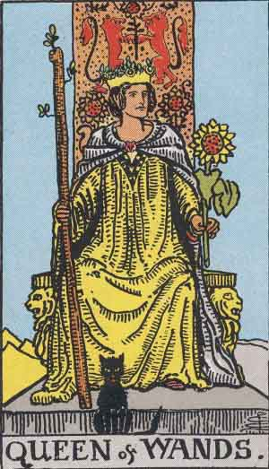 Bast The Cat And The Queen Of Wands
