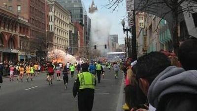 Explosions at Boston Marathon, 2:50 PM, 15 April 2013