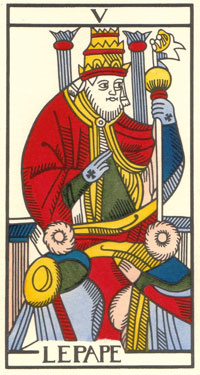 Pope trump from the tarot