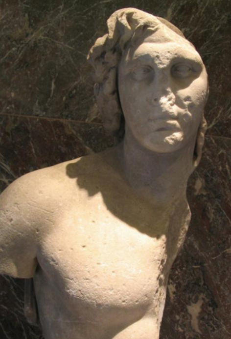 Alexander the Great, bust from Delos (at the Louvre)