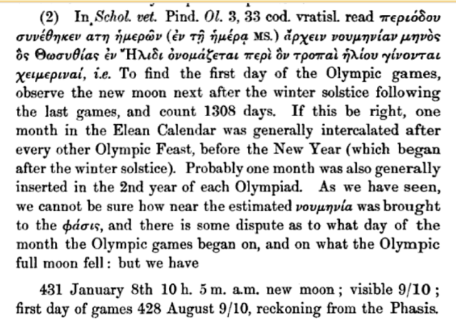 Date of the start of the Olympics