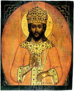 Jesus as the King of Kings in the tradition of Alexander the Great.