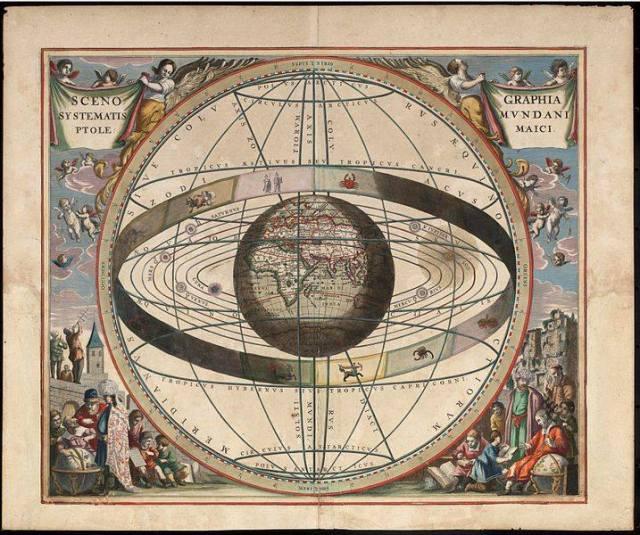 Andreas Cellarius Harmonia Macrocosmica, 1660/61.