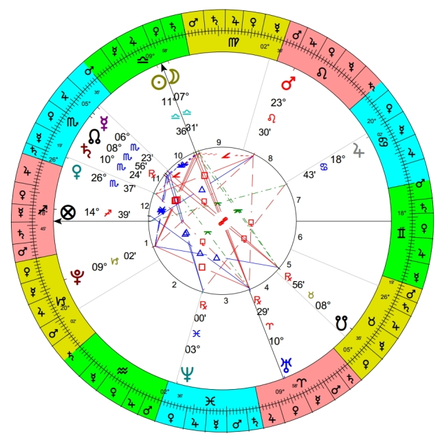 12:38 pm, Queens, NY, 04 OCT 2013 - the time the boy was last seen. Ptolemy's terms outside chart. ASC 18 SAG 45.