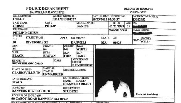 Birth date of Philip Chism from police report.