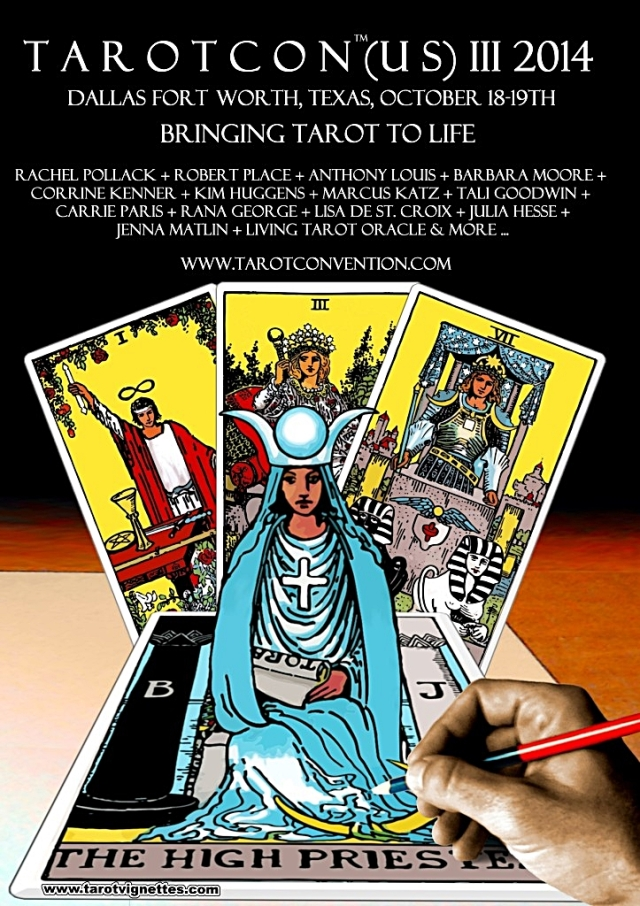 I will be speaking at TarotCon (US) 2014 in Dallas.